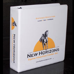 New Horizons Equine lesson binder